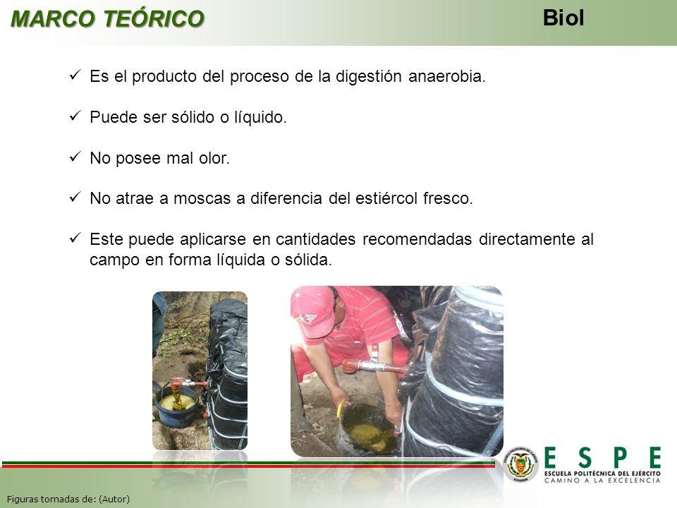 MARCO TEÓRICO Biol. Es el producto del proceso de la digestión anaerobia. Puede ser sólido o líquido.