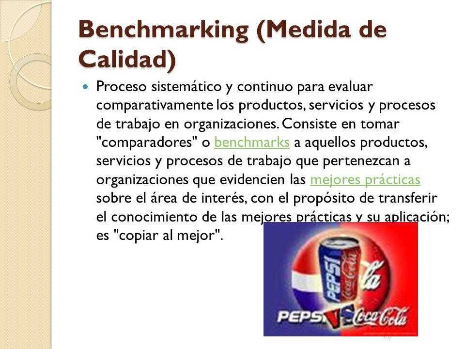Benchmarking (Medida de Calidad)