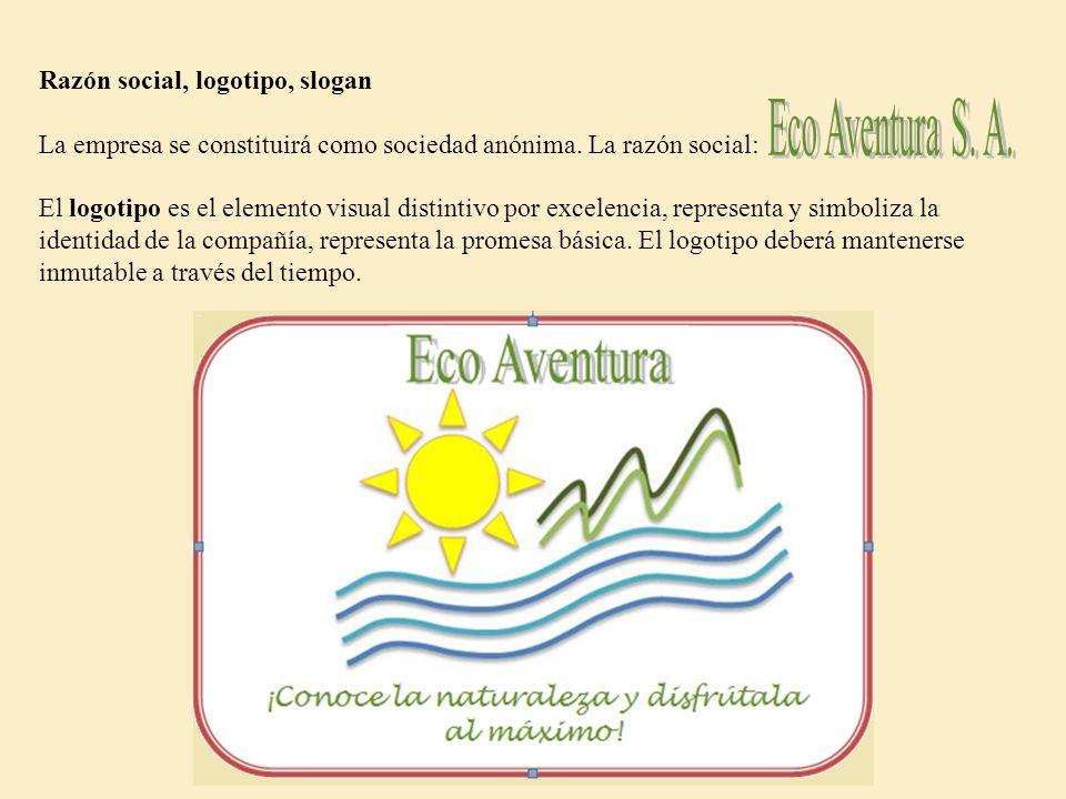 Eco Aventura S. A. Razón social, logotipo, slogan