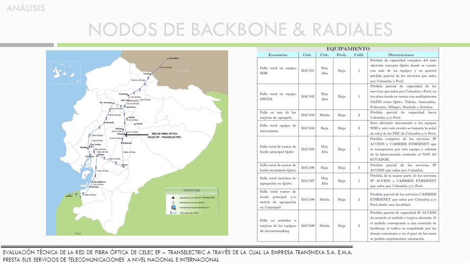 NODOS DE BACKBONE & RADIALES