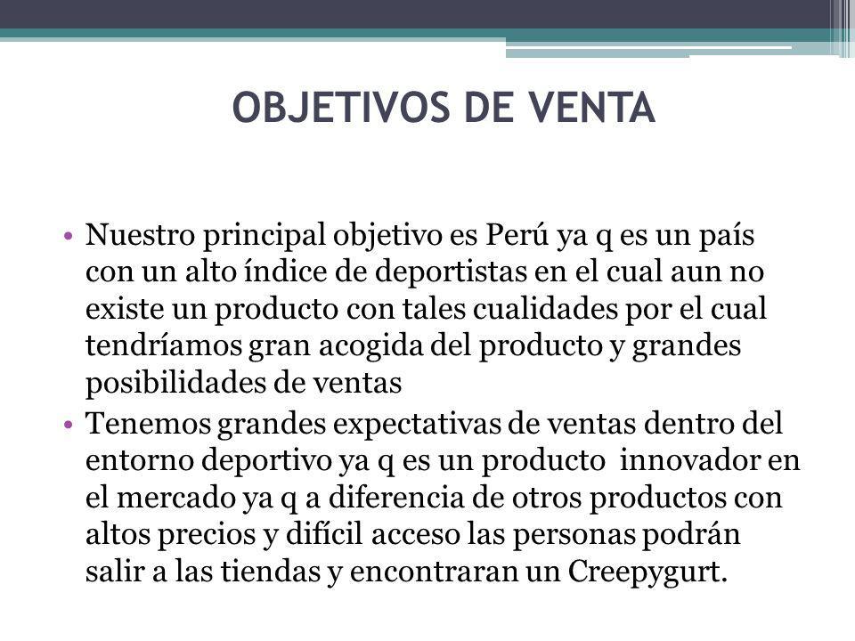 OBJETIVOS DE VENTA