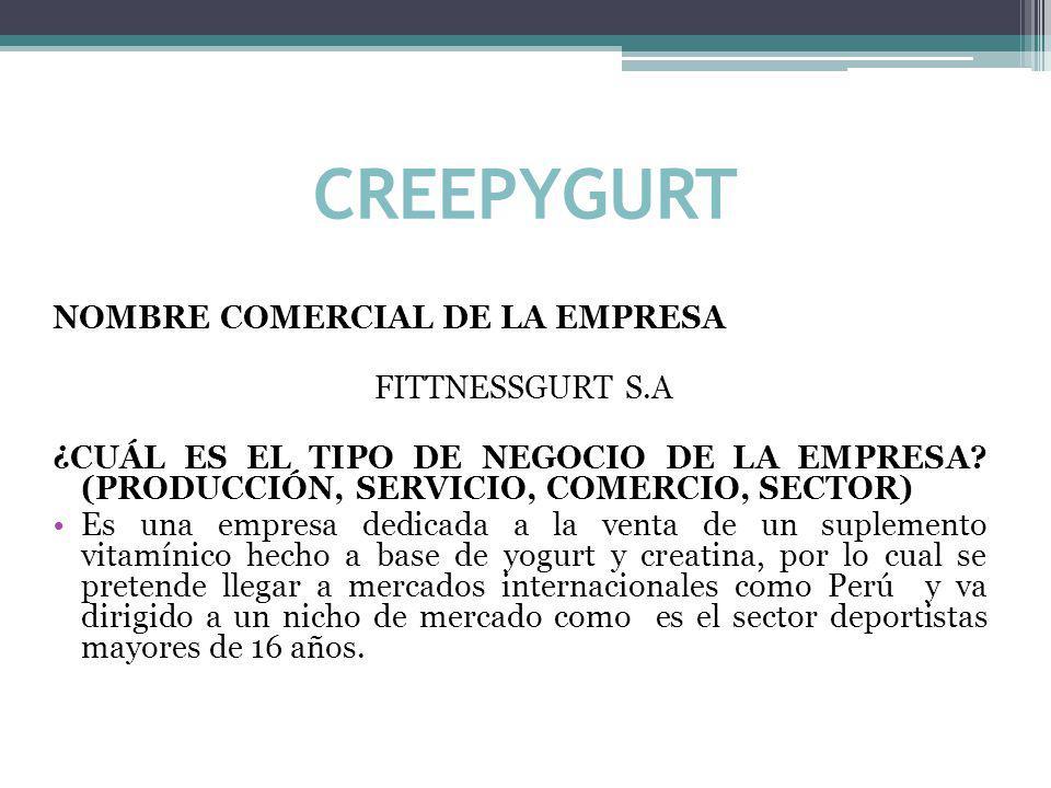 CREEPYGURT NOMBRE COMERCIAL DE LA EMPRESA FITTNESSGURT S.A