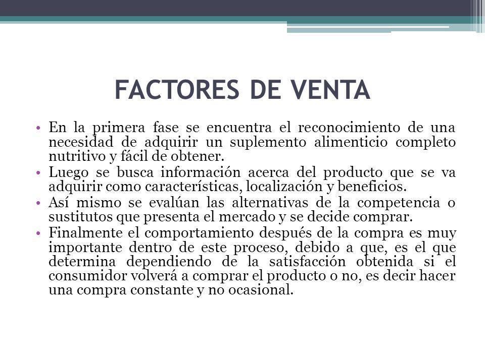 FACTORES DE VENTA