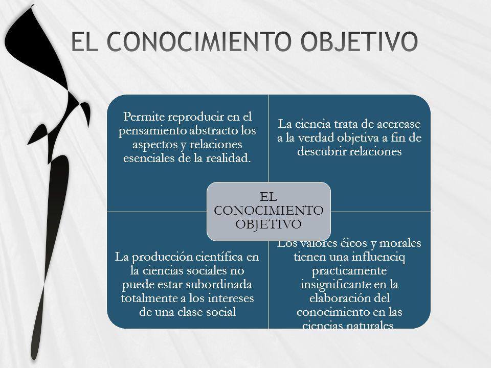 EL CONOCIMIENTO OBJETIVO