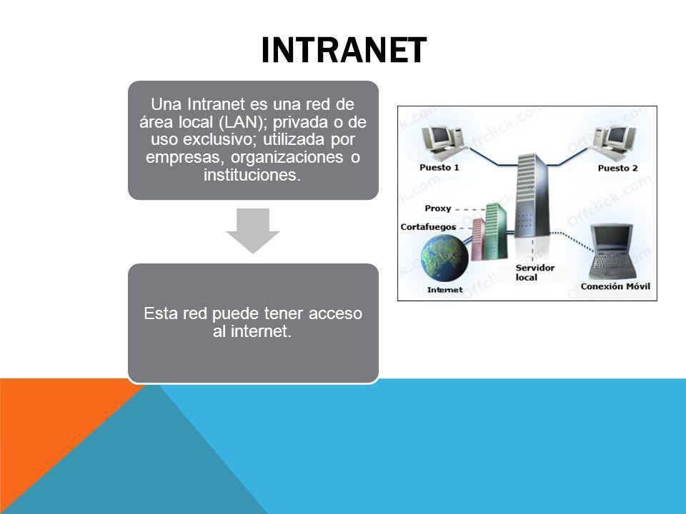 Esta red puede tener acceso al internet.