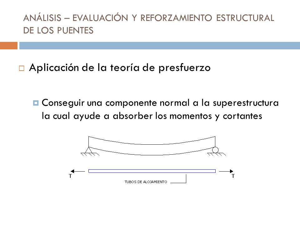 ANÁLISIS – EVALUACIÓN Y REFORZAMIENTO ESTRUCTURAL DE LOS PUENTES