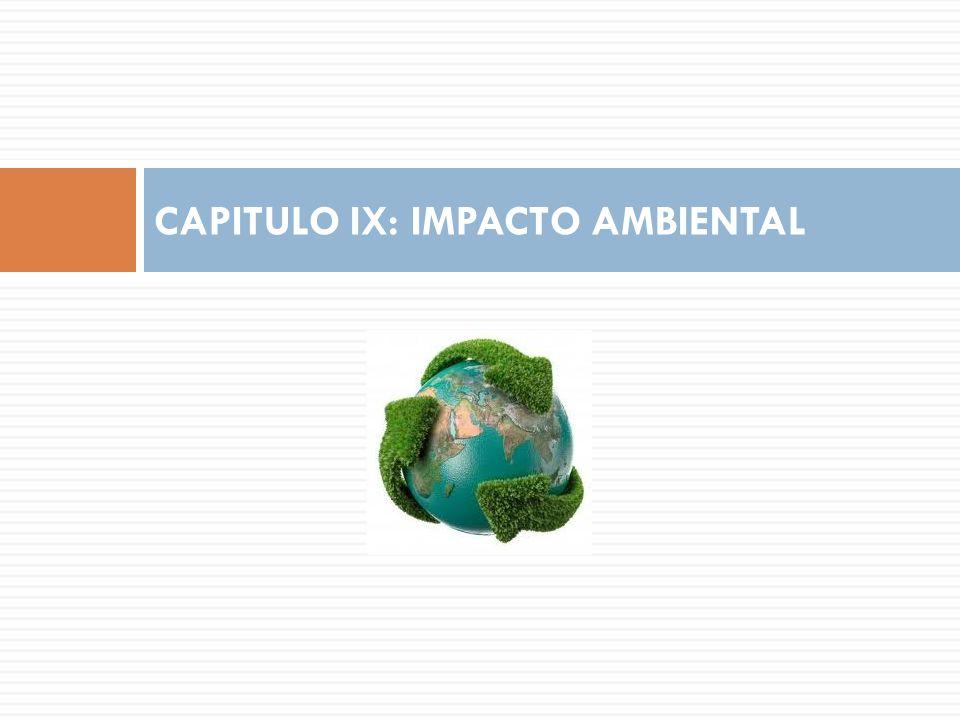 CAPITULO IX: IMPACTO AMBIENTAL