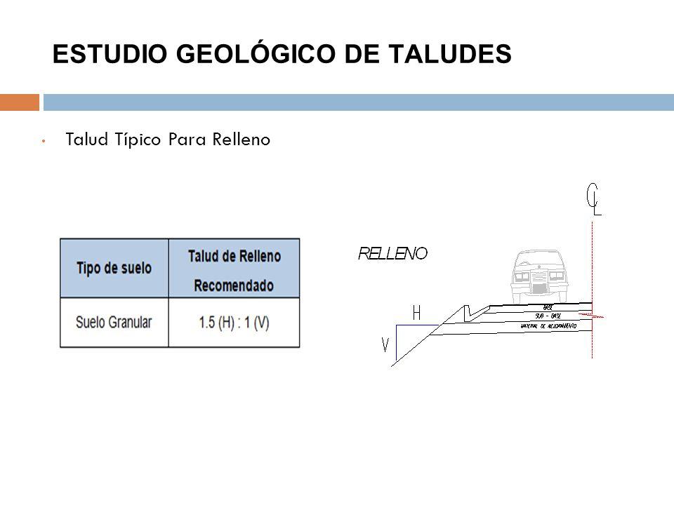 ESTUDIO GEOLÓGICO DE TALUDES