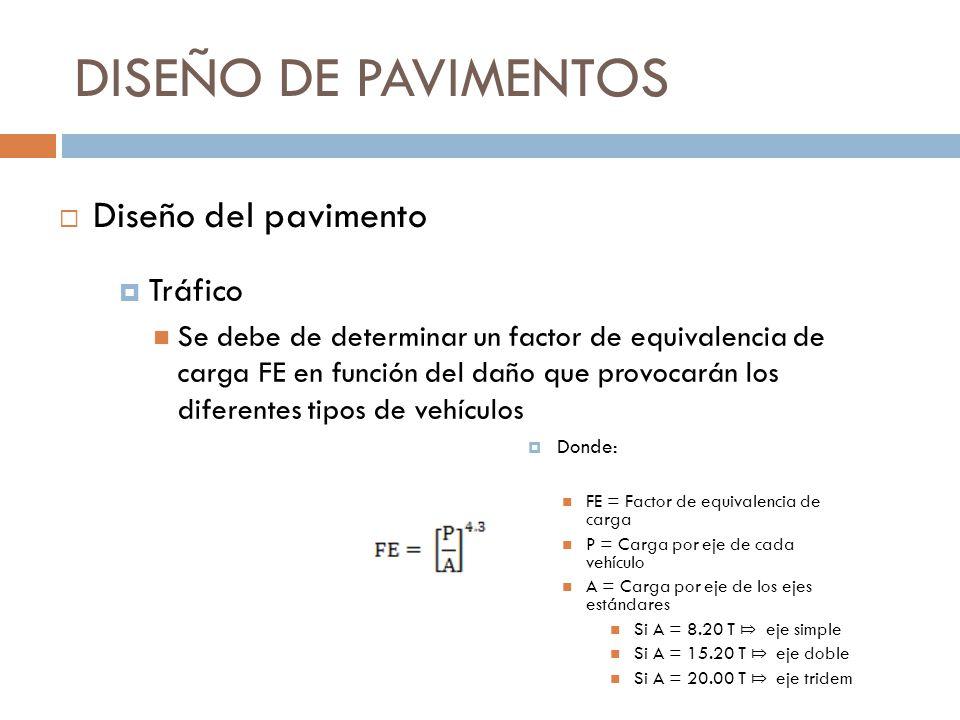DISEÑO DE PAVIMENTOS Diseño del pavimento Tráfico