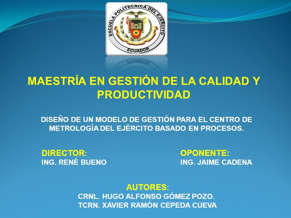 MAESTRÍA EN GESTIÓN DE LA CALIDAD Y PRODUCTIVIDAD