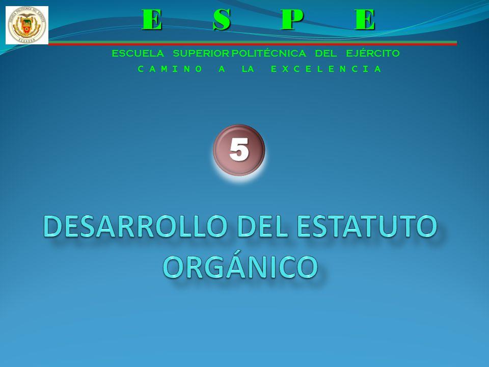 DESARROLLO DEL ESTATUTO ORGÁNICO