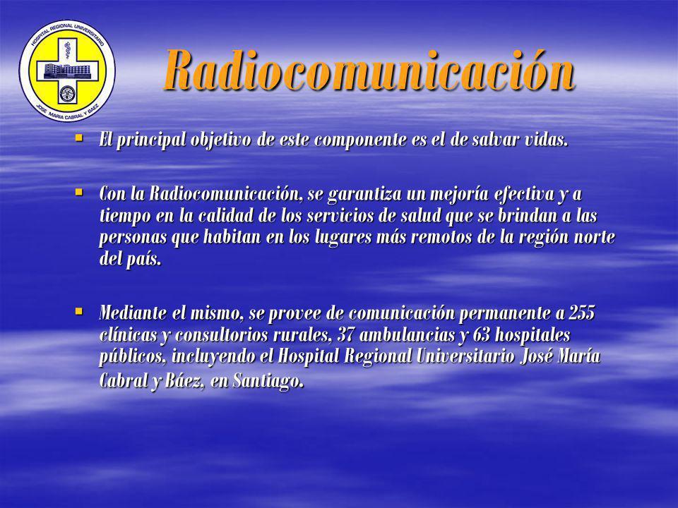 Radiocomunicación El principal objetivo de este componente es el de salvar vidas.