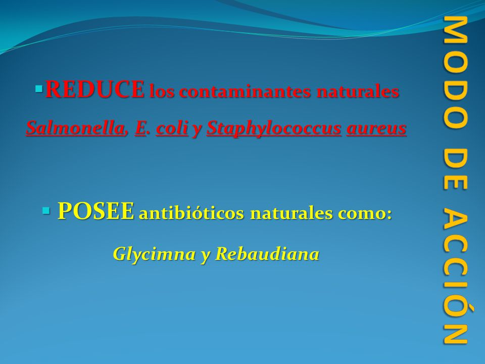 POSEE antibióticos naturales como: