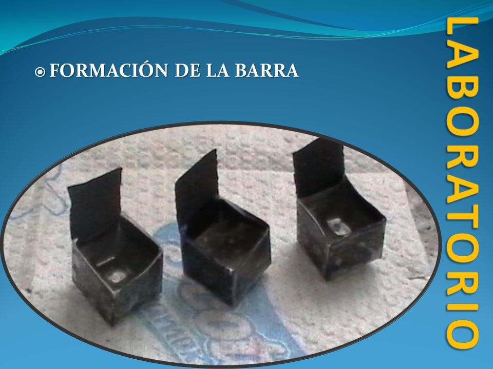 laboratorio FORMACIÓN DE LA BARRA
