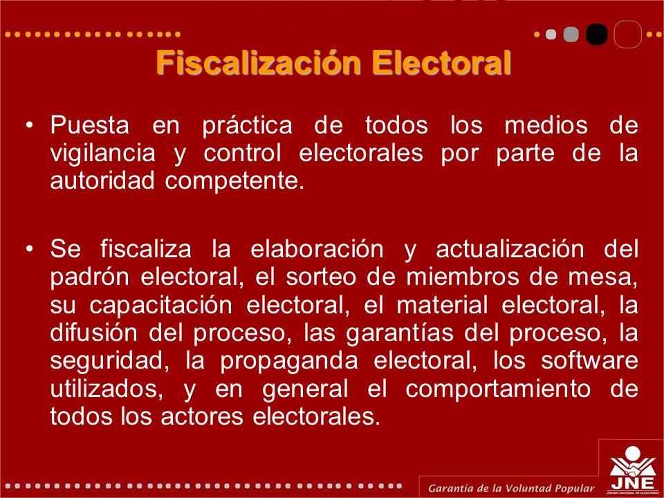 Fiscalización Electoral
