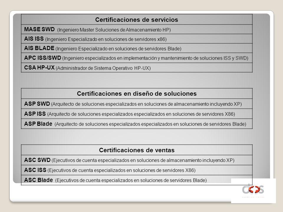 Certificaciones de servicios