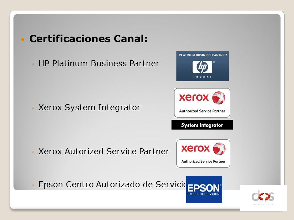 Certificaciones Canal: