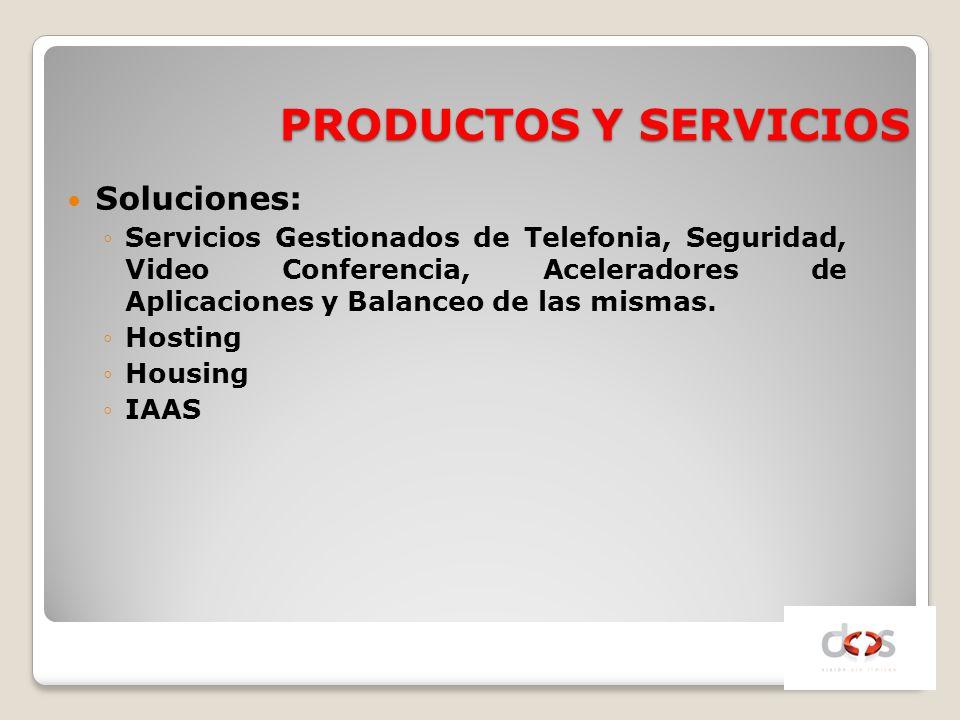 PRODUCTOS Y SERVICIOS Soluciones: