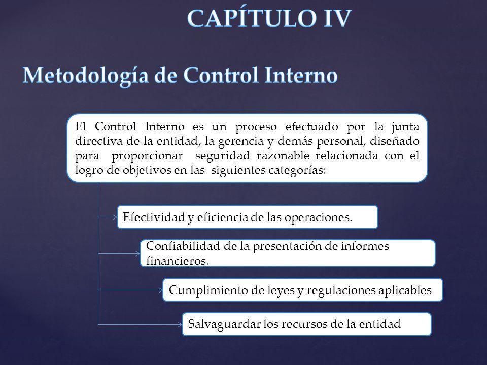 CAPÍTULO IV Metodología de Control Interno