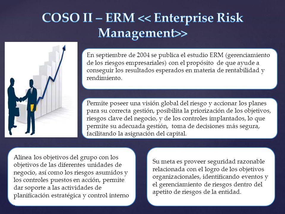 COSO II – ERM << Enterprise Risk Management>>