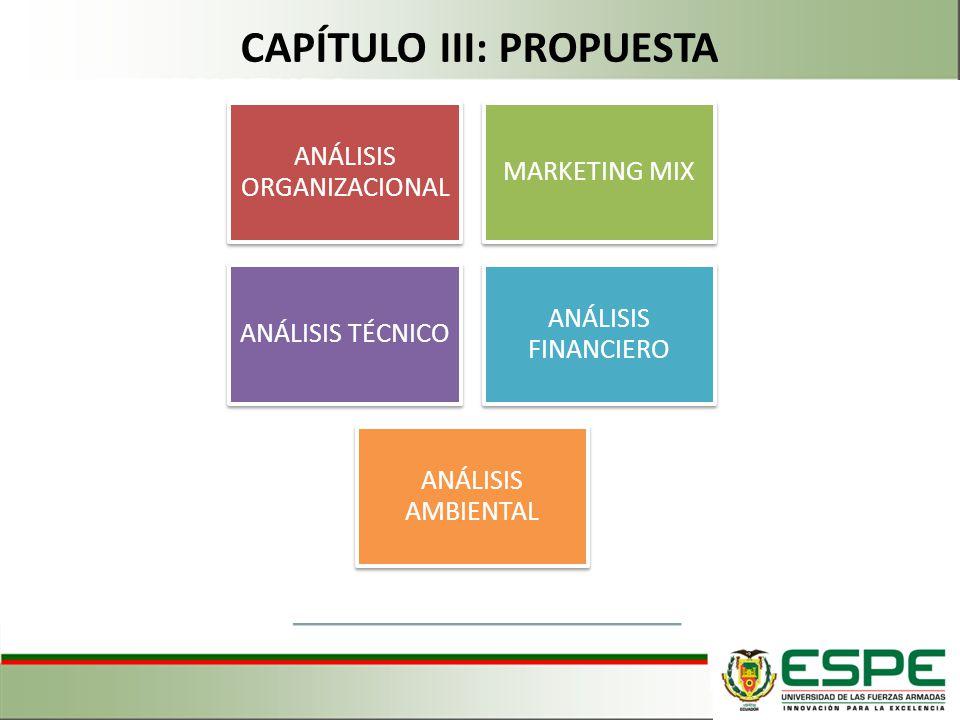 CAPÍTULO III: PROPUESTA