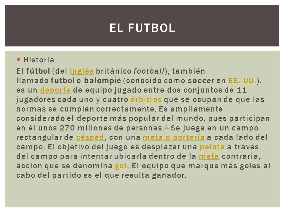 El Futbol Historia.