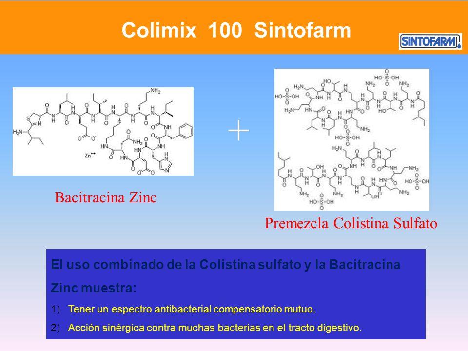 + Colimix 100 Sintofarm Bacitracina Zinc Premezcla Colistina Sulfato
