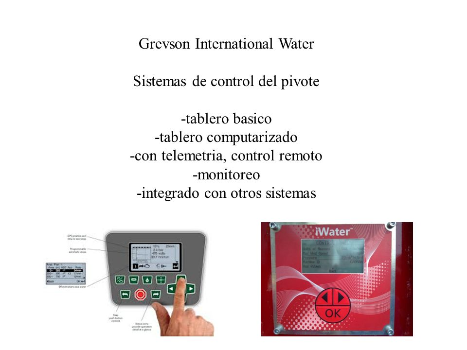 Grevson International Water Sistemas de control del pivote