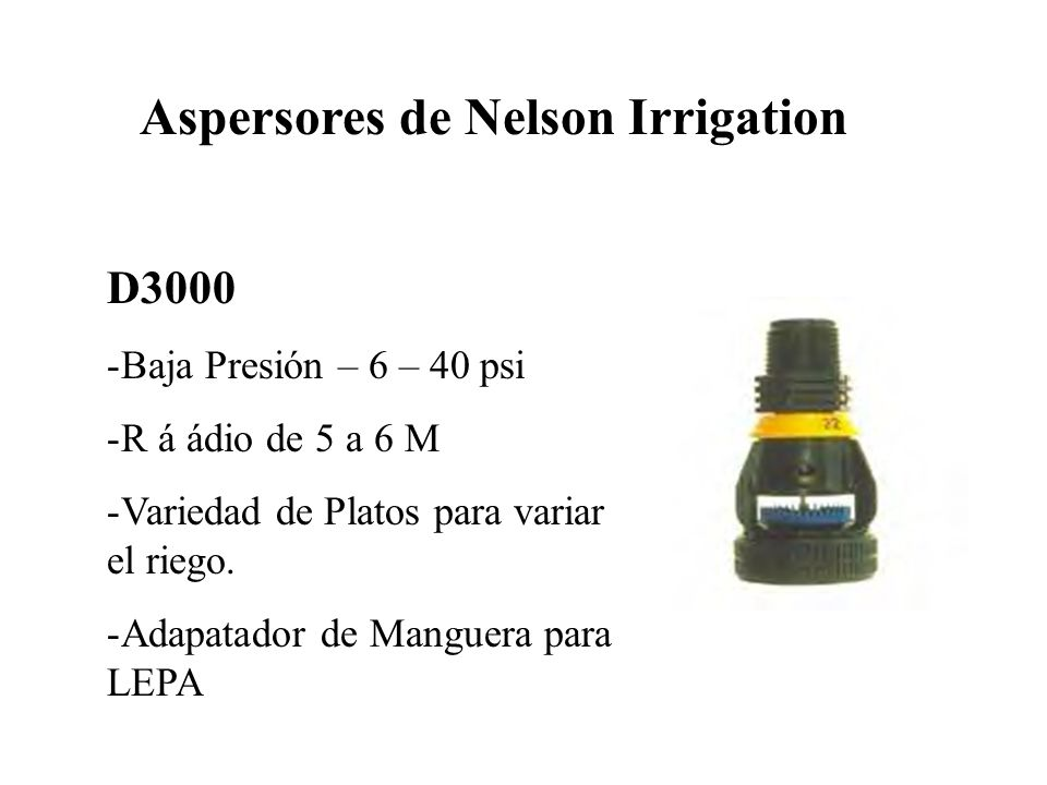 Aspersores de Nelson Irrigation