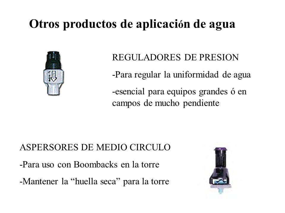 Otros productos de aplicación de agua