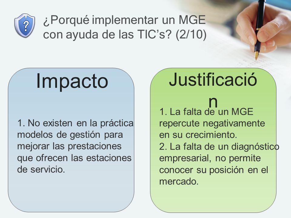 ¿Porqué implementar un MGE con ayuda de las TIC's (2/10)