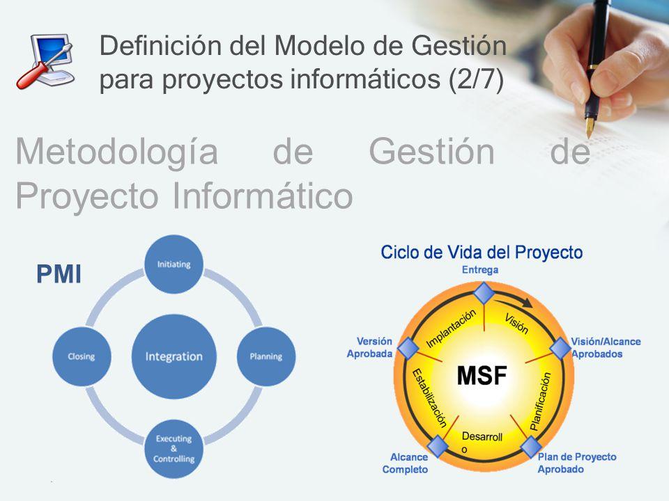 Definición del Modelo de Gestión para proyectos informáticos (2/7)