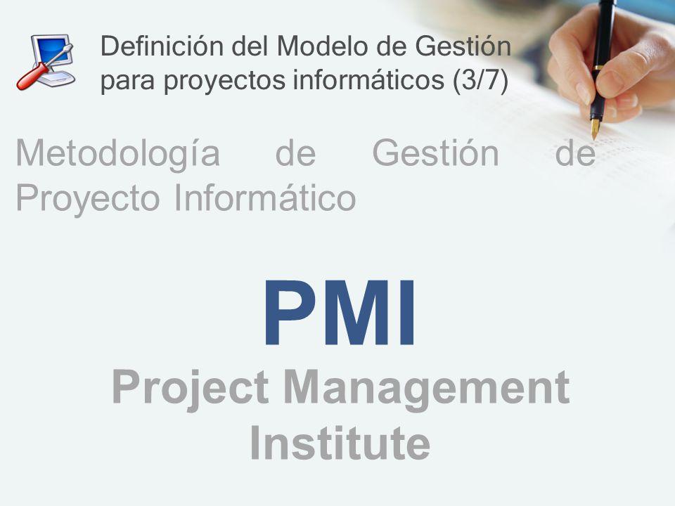 Definición del Modelo de Gestión para proyectos informáticos (3/7)