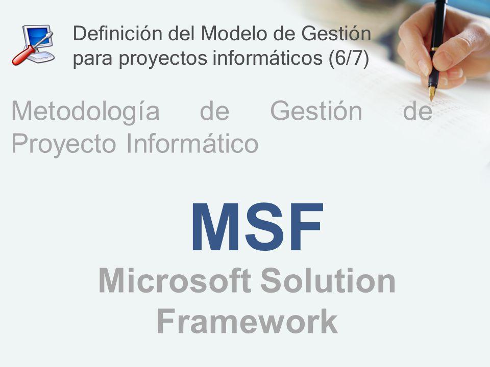 Definición del Modelo de Gestión para proyectos informáticos (6/7)