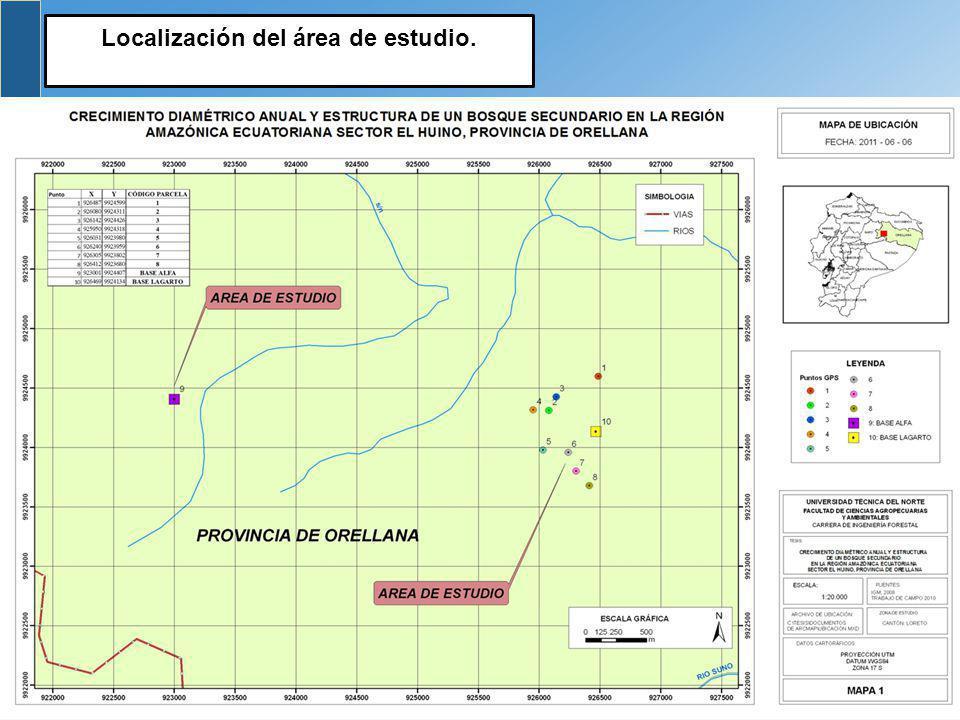 Localización del área de estudio.