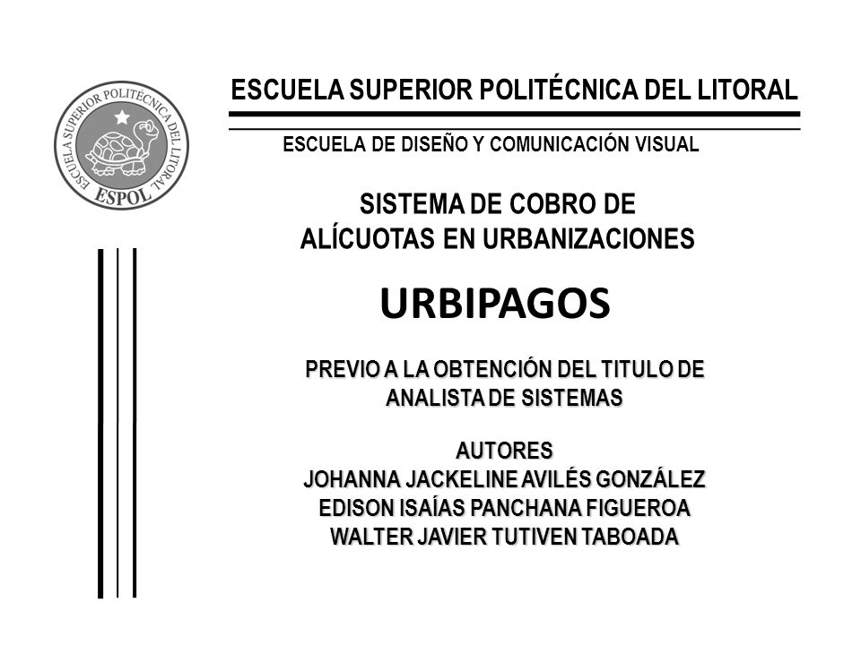 URBIPAGOS ESCUELA SUPERIOR POLITÉCNICA DEL LITORAL
