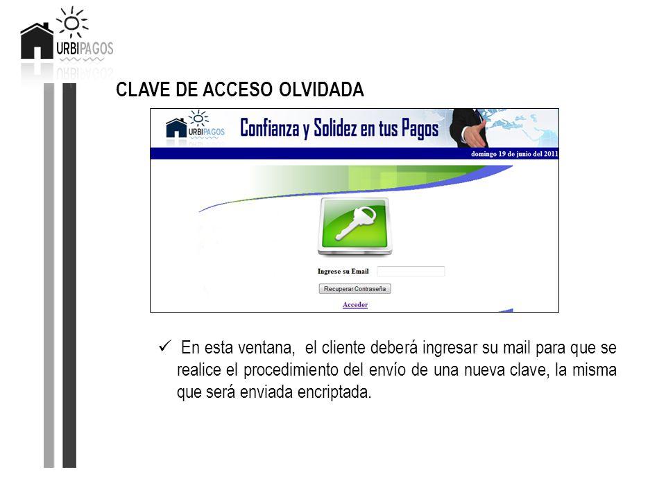 CLAVE DE ACCESO OLVIDADA