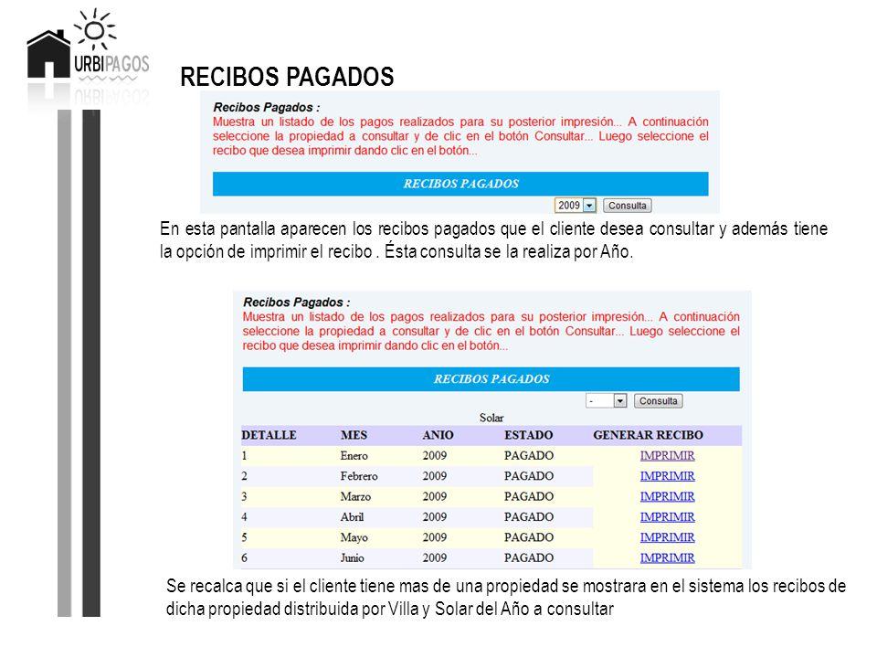 RECIBOS PAGADOS