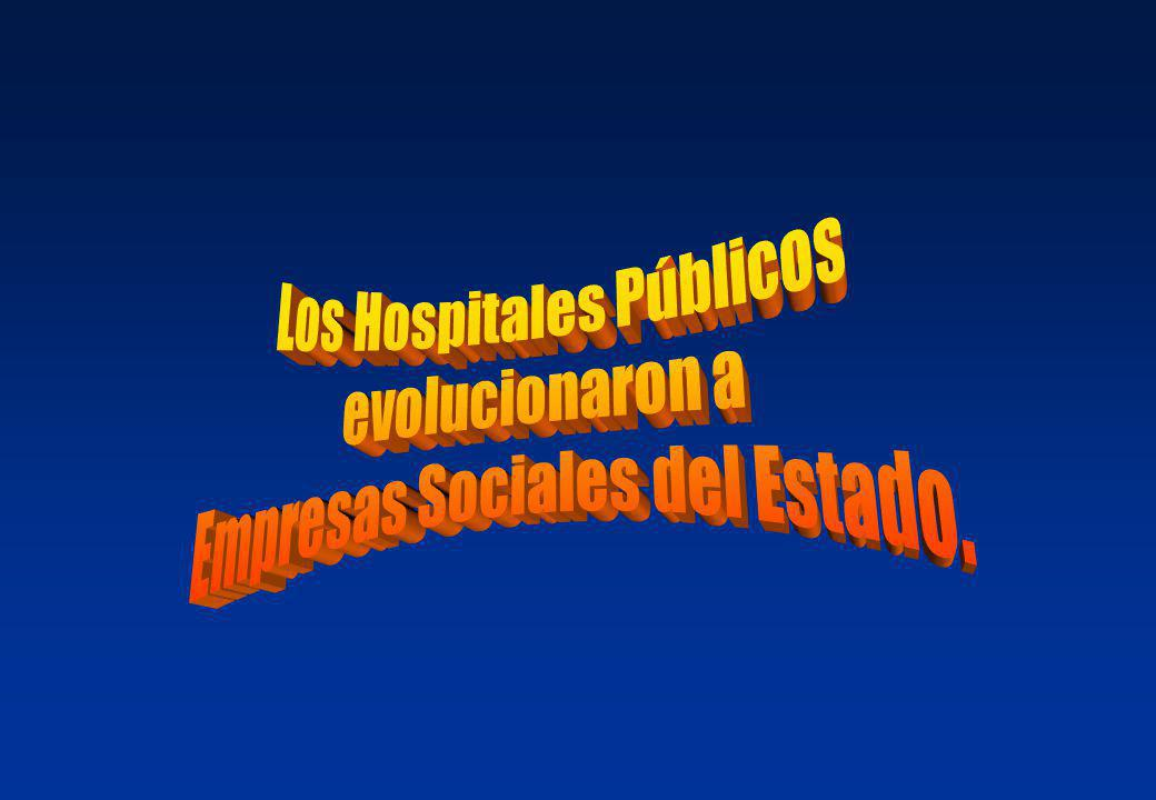 Los Hospitales Públicos evolucionaron a Empresas Sociales del Estado.