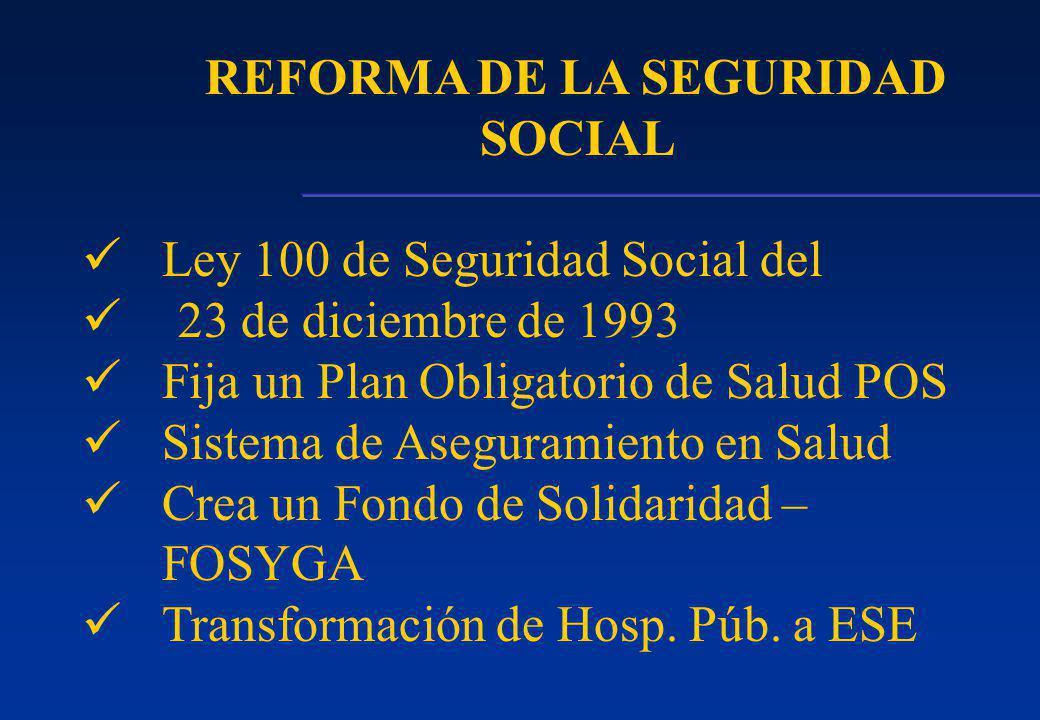 REFORMA DE LA SEGURIDAD SOCIAL