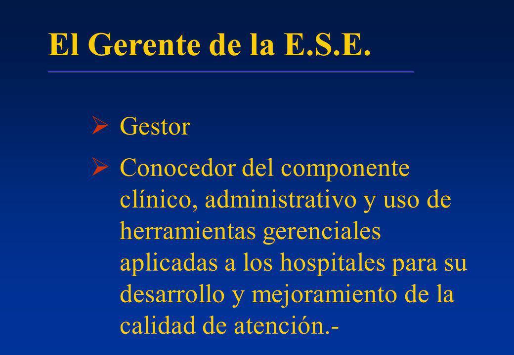 El Gerente de la E.S.E. Gestor