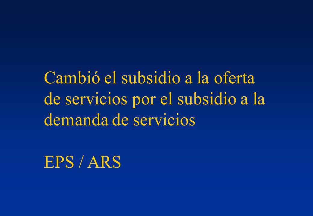 Cambió el subsidio a la oferta de servicios por el subsidio a la demanda de servicios