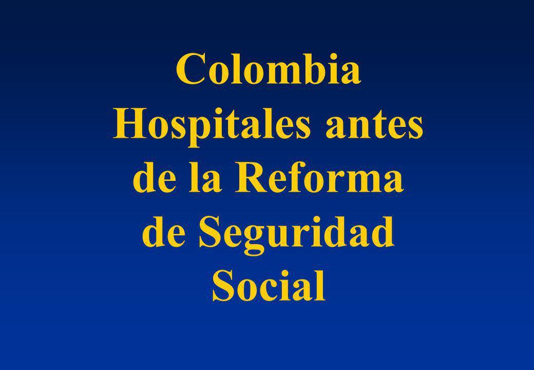 Hospitales antes de la Reforma de Seguridad Social
