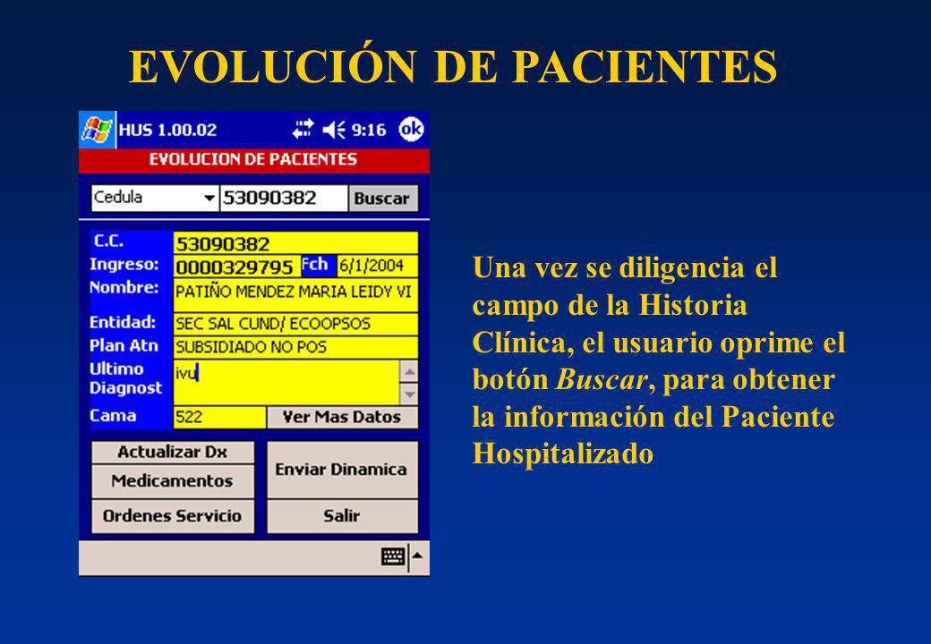 EVOLUCIÓN DE PACIENTES