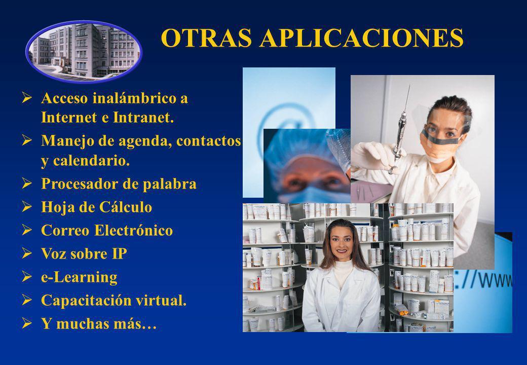 OTRAS APLICACIONES Acceso inalámbrico a Internet e Intranet.