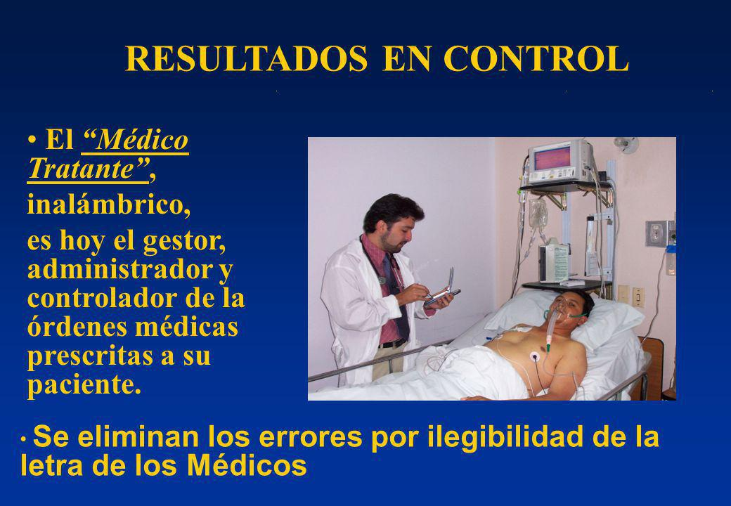 RESULTADOS EN CONTROL El Médico Tratante , inalámbrico,