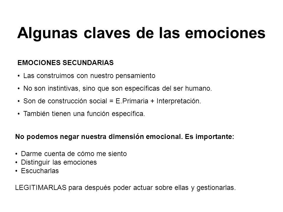 Algunas claves de las emociones