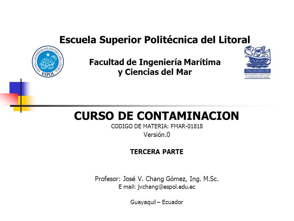 CURSO DE CONTAMINACION