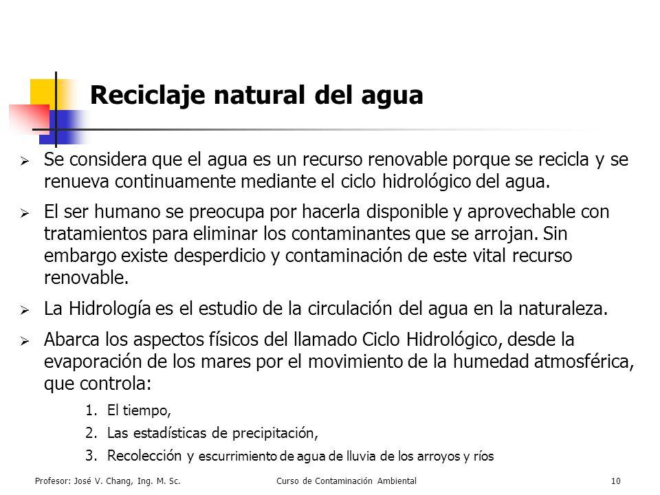 Reciclaje natural del agua