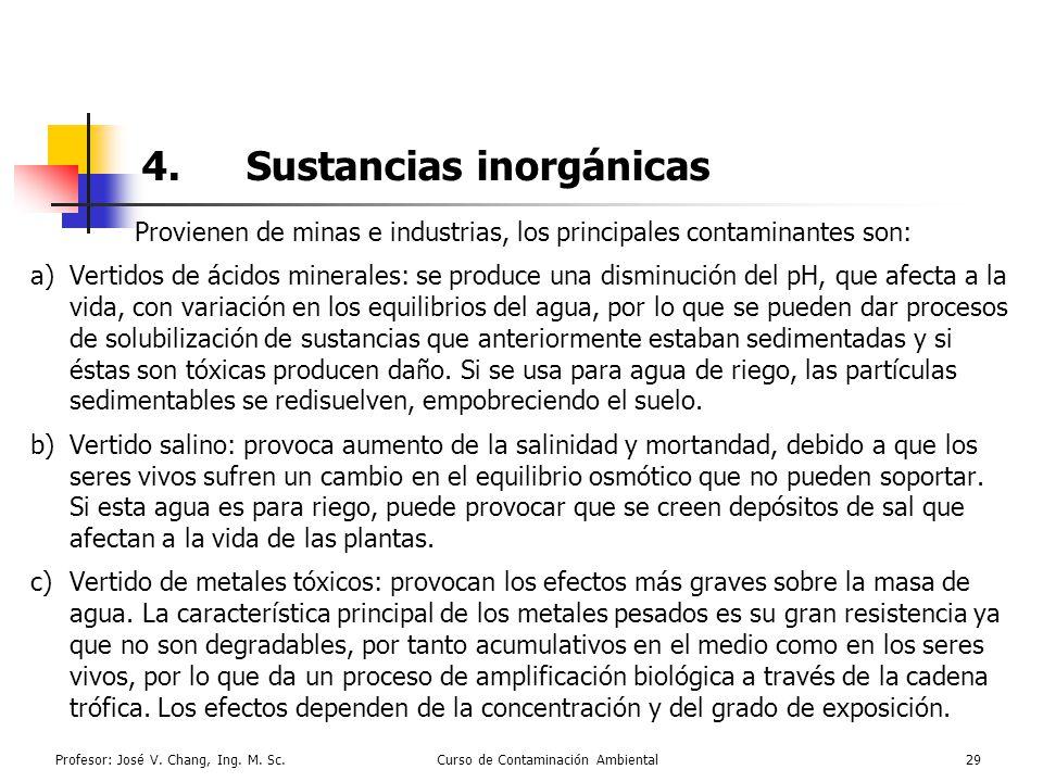 4. Sustancias inorgánicas